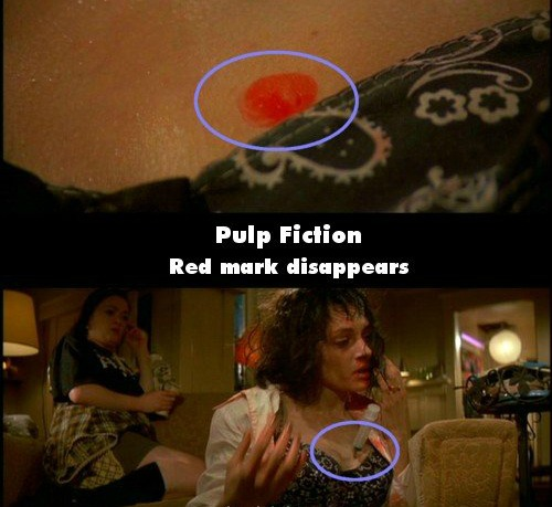 Movie Mistakes - Pulp Fiction